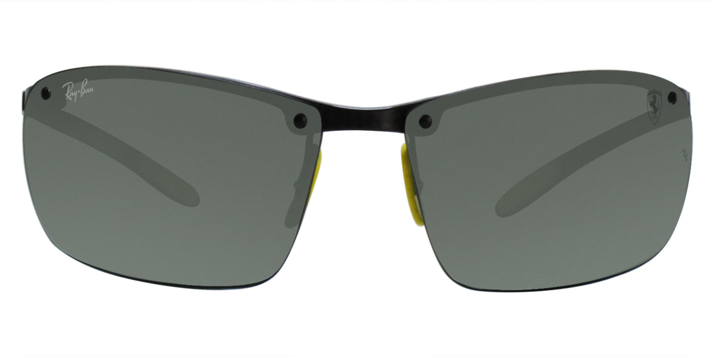 Ray Ban - RB8305M Gray/Green Rimless Men Sunglasses - 65mm