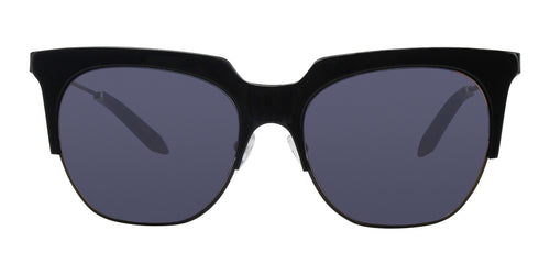 Victoria Beckham - VBS111 Black Oval Unisex Sunglasses - 57mm