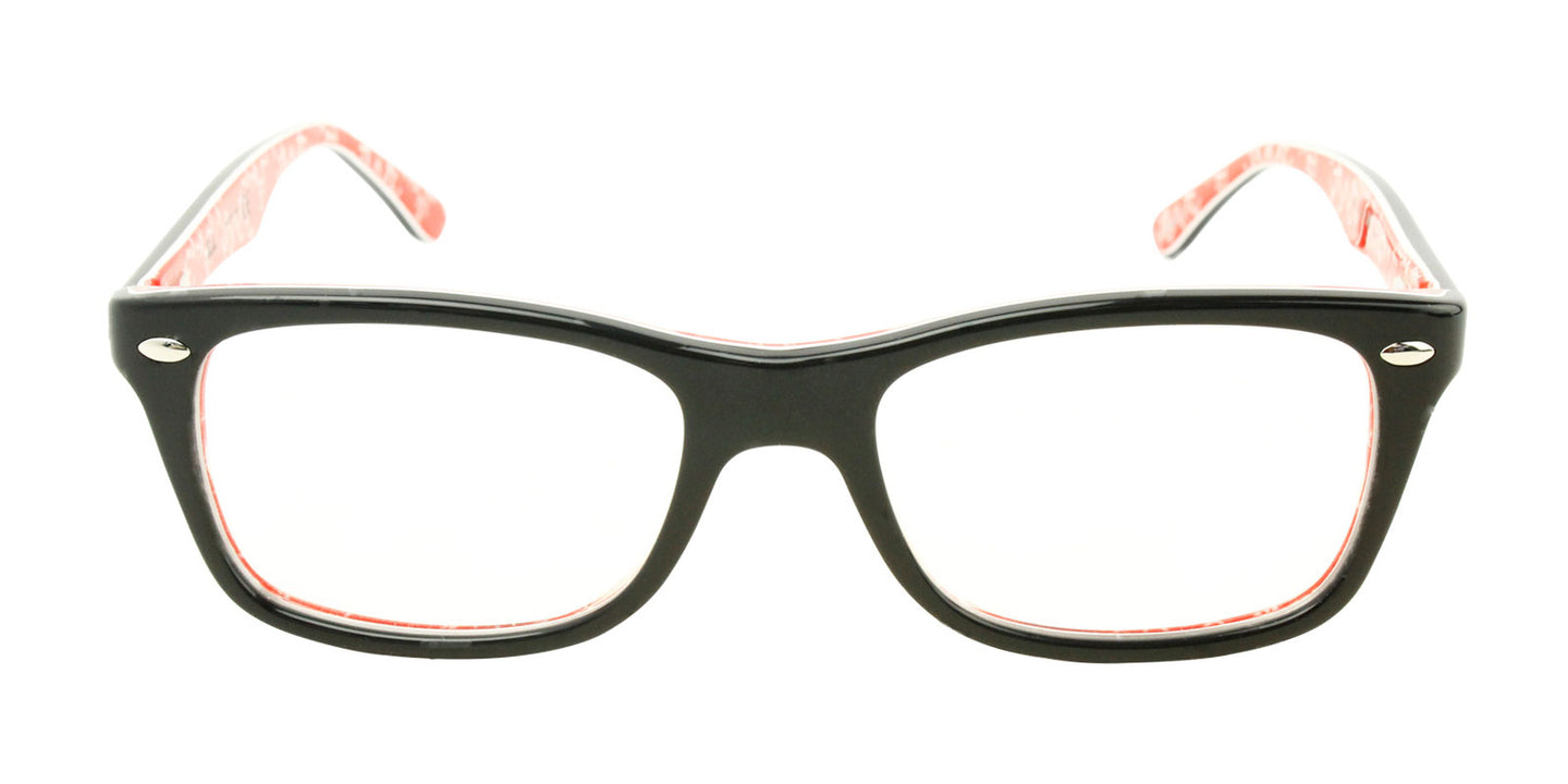 Ray Ban Rx - RX5228 Black Rectangular Women Eyeglasses - 50mm