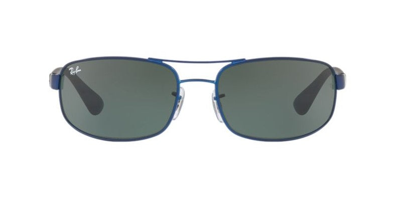Ray Ban - RB3445 Blue/Green Square Men Sunglasses - 61mm