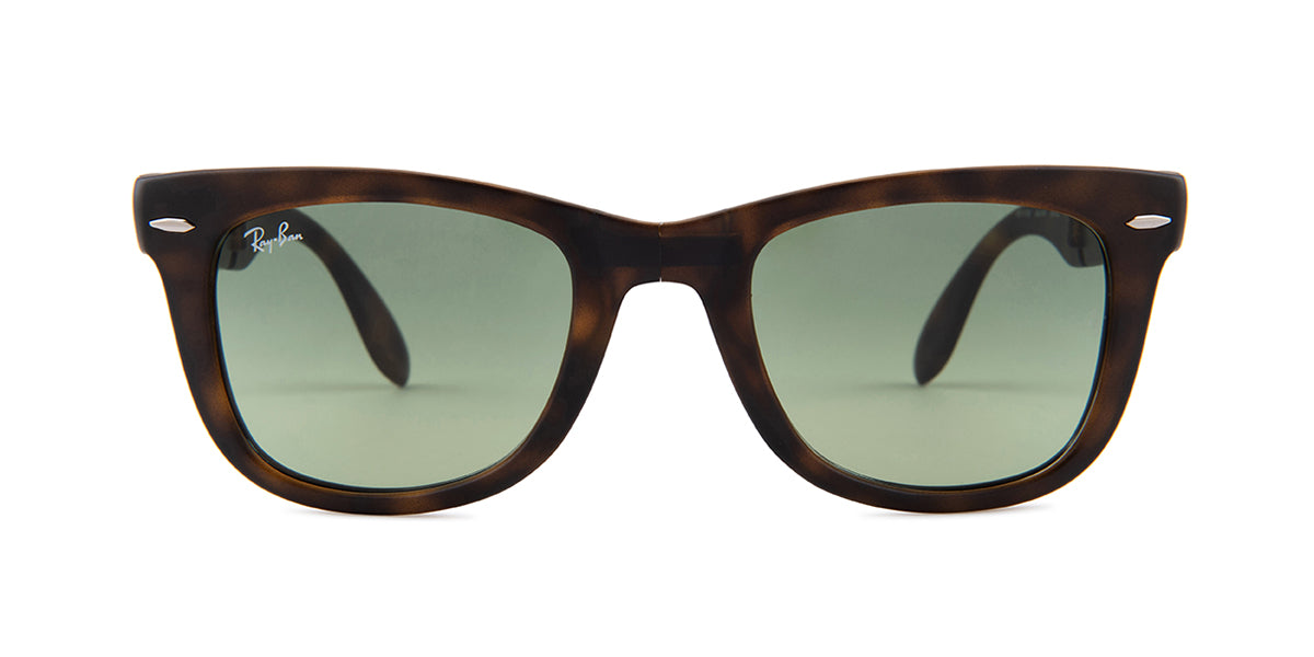 Ray Ban - RB4105 Havana/Green Gradient Square Men Sunglasses - 50mm