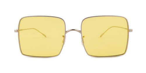 Oliver Peoples Rassine Silver / Yellow Lens Sunglasses