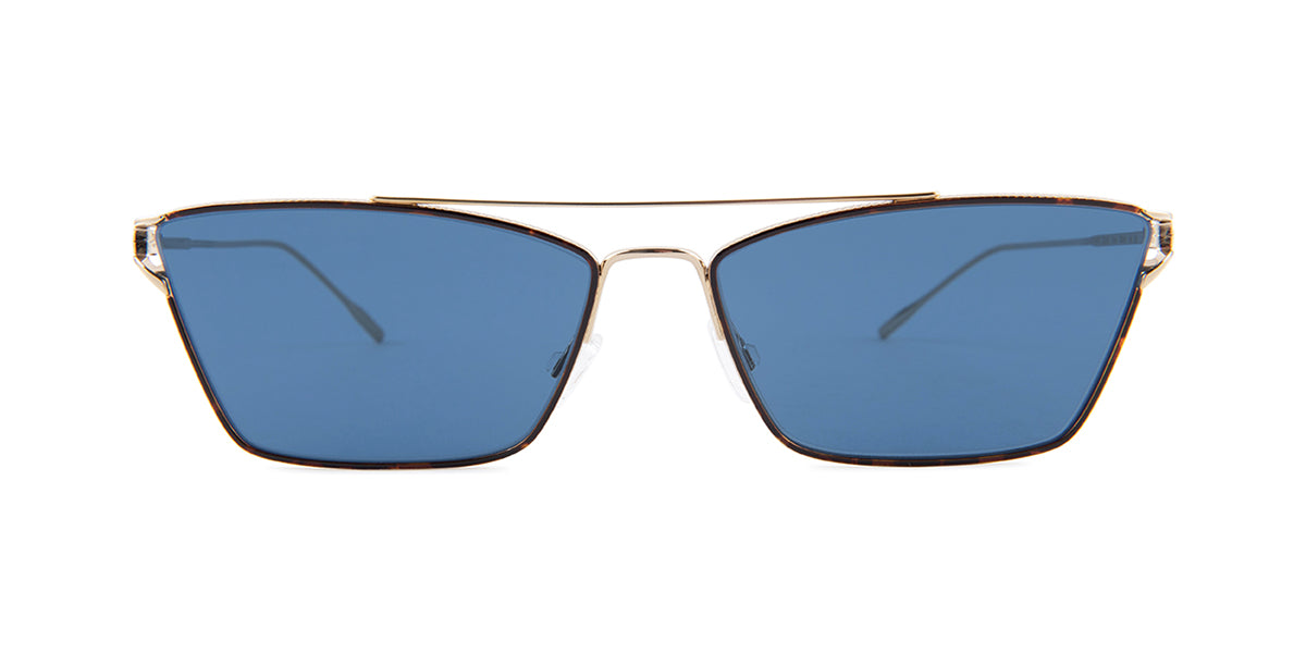 Oliver Peoples OV1244S Havana / Blue Lens Sunglasses