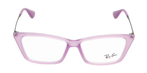 Ray Ban Rx - RX7022 Purple Rectangular Women Eyeglasses - 52mm