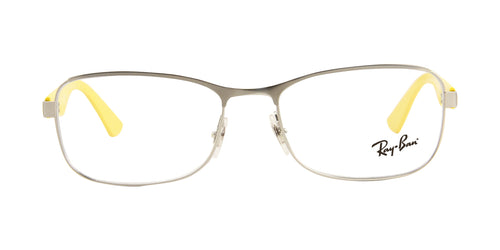 Ray Ban Rx - RX6307 Silver Rectangular Unisex Eyeglasses - 53mm