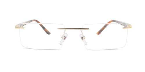 Starck - SH2024 Gold Rimless Women Eyeglasses - 53mm