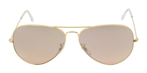 Ray Ban - Aviator Gradient Gold/Brown Mirror Unisex Sunglasses - 62mm