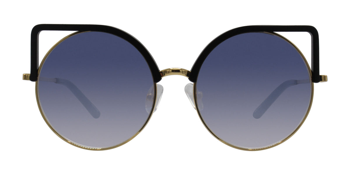 Mathew Williamson - MW169 Black Cat Eye Women Sunglasses - 54mm