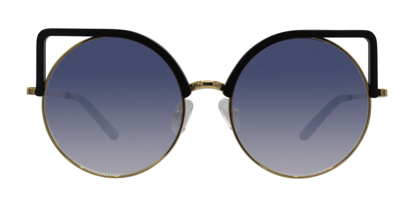 Matthew Williamson - MW169 Black Oval Women Sunglasses - 54mm