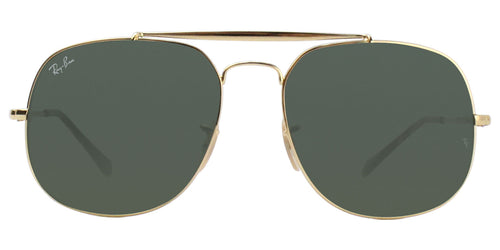 Ray Ban - RB3561 Gold Oval Unisex Sunglasses - 57mm