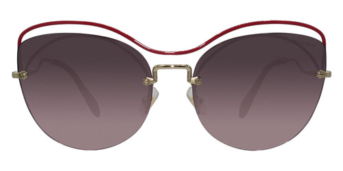 Miu Miu - MU50TS Gold Oval Women Sunglasses - 60mm