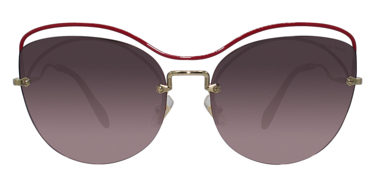 Miu Miu - MU50TS Gold/Pink Gradient Oval Women Sunglasses - 60mm