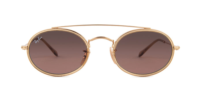 Ray Ban - RB3847N Gold/Brown Gradient Oval Unisex Sunglasses - 52mm