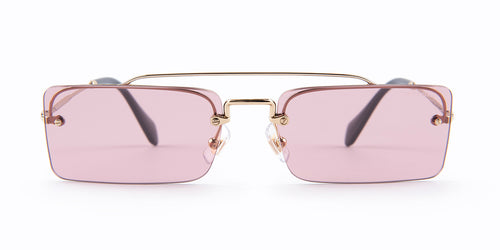 Miu Miu - MU59TS Silver/Pink Rimless Women Sunglasses - 58mm