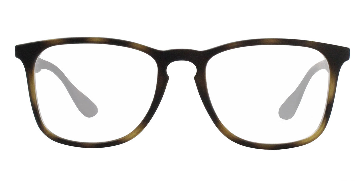 Ray Ban Rx - RX7074 Tortoise Rectangular Women Eyeglasses - 52mm