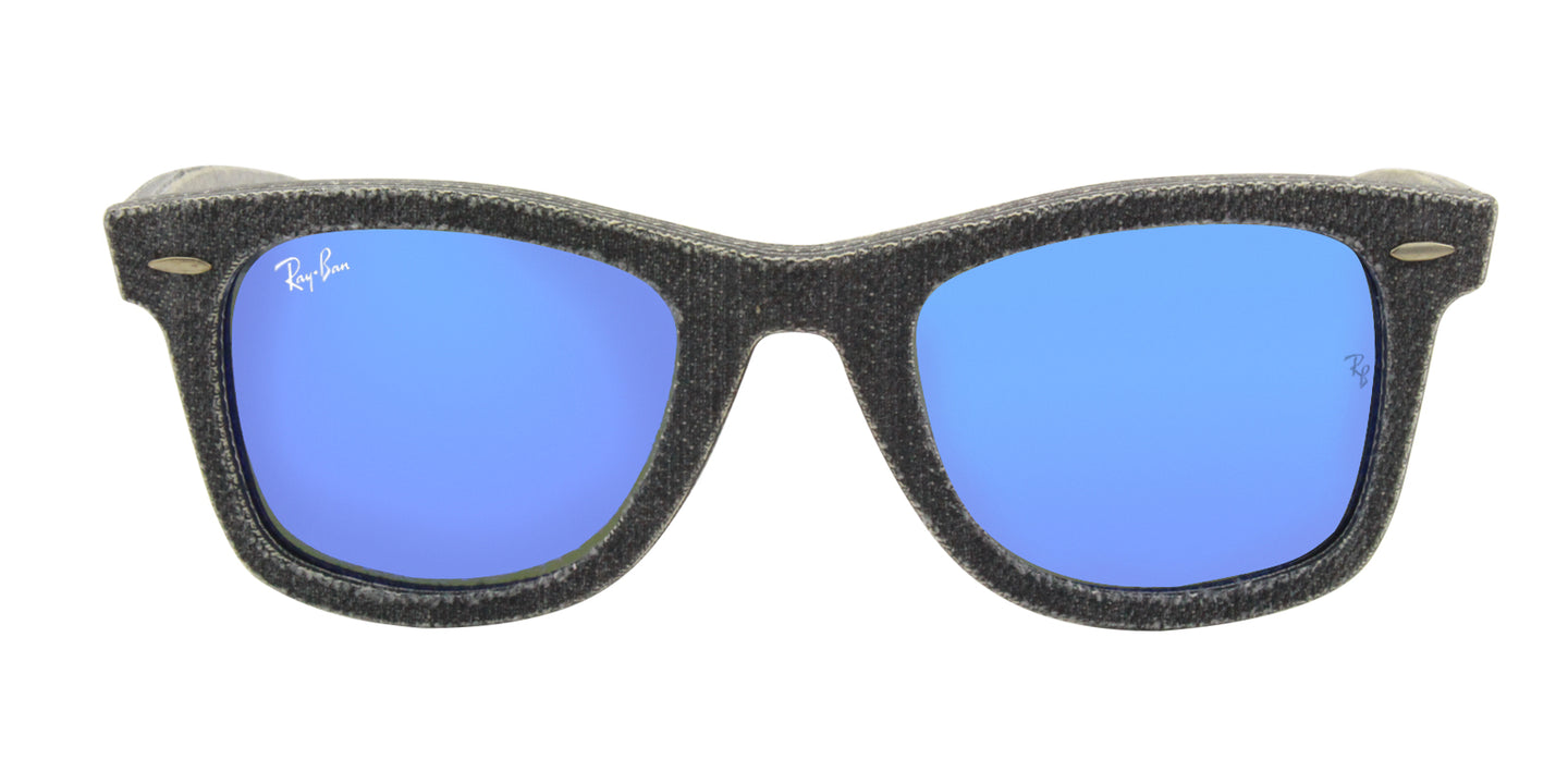 Ray Ban - Original Wayfarer Gray/Blue Mirror Men Sunglasses - 50mm
