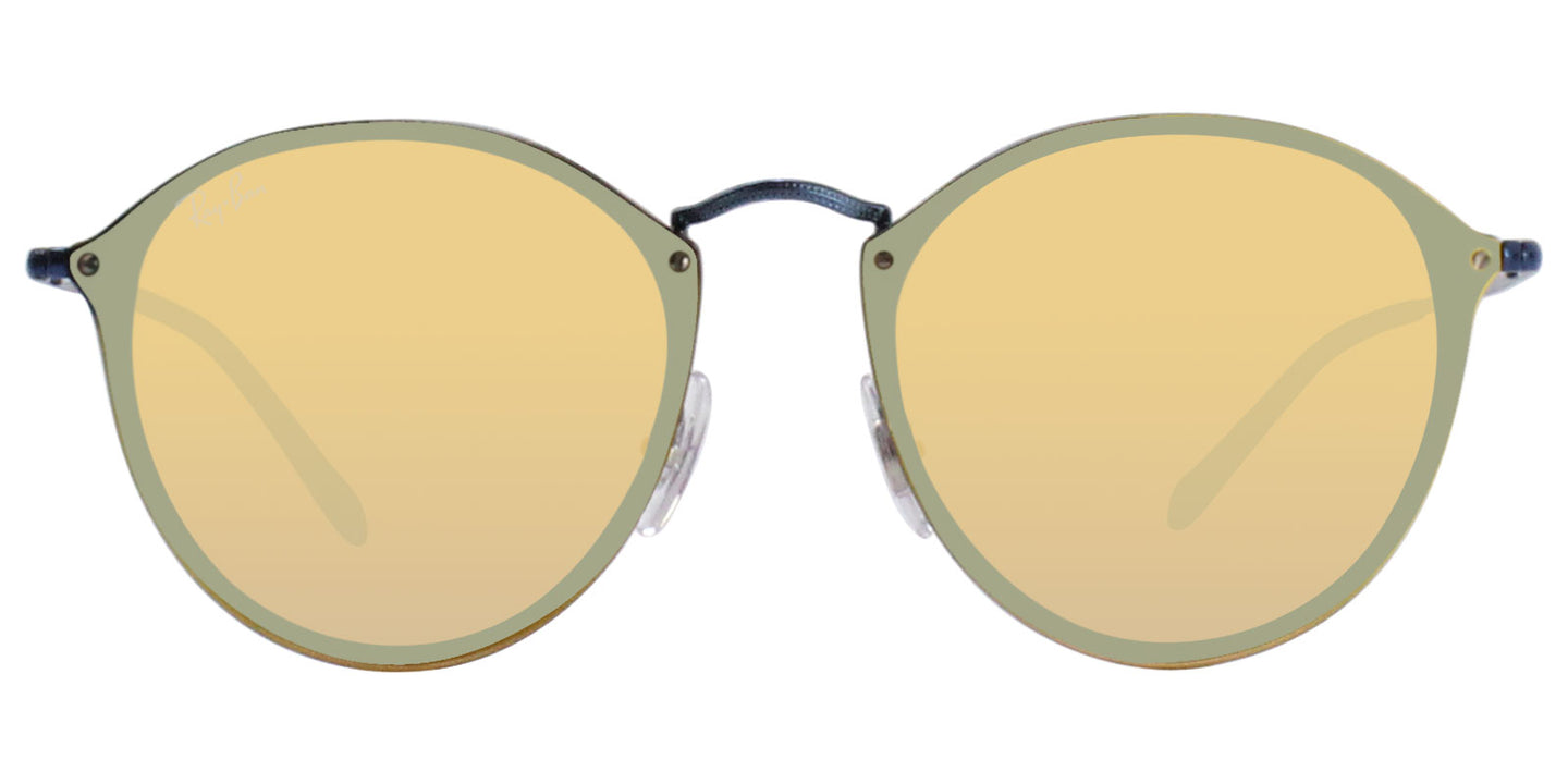 Ray Ban - RB3574N Blue/Yellow Mirror Oval Women Sunglasses - 59mm