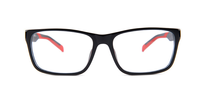 Tagheuer - TH0552 Black Rectangular Men Eyeglasses - 57mm