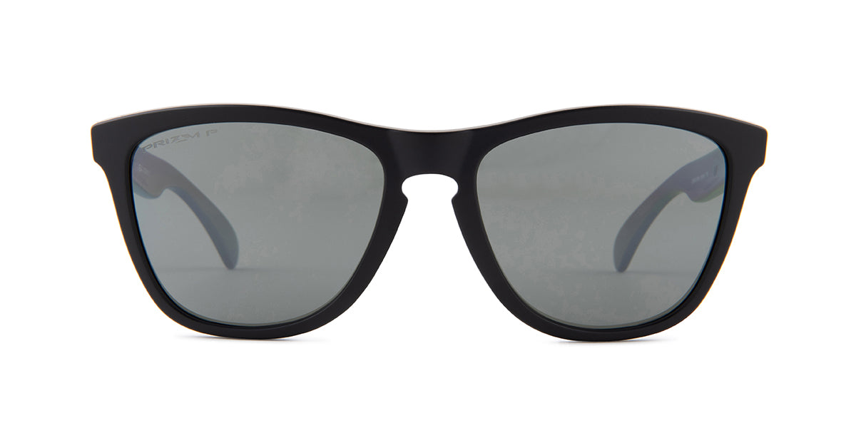 Oakley - Frogskins Black/Silver Square Men Sunglasses - 55mm
