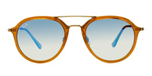 Ray Ban RB4253 Brown / Blue Lens Mirror Sunglasses