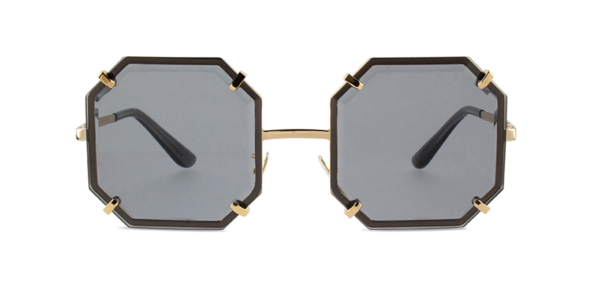 Nautica - N6148S Purple/Grey Oval Unisex Sunglasses - 57mm