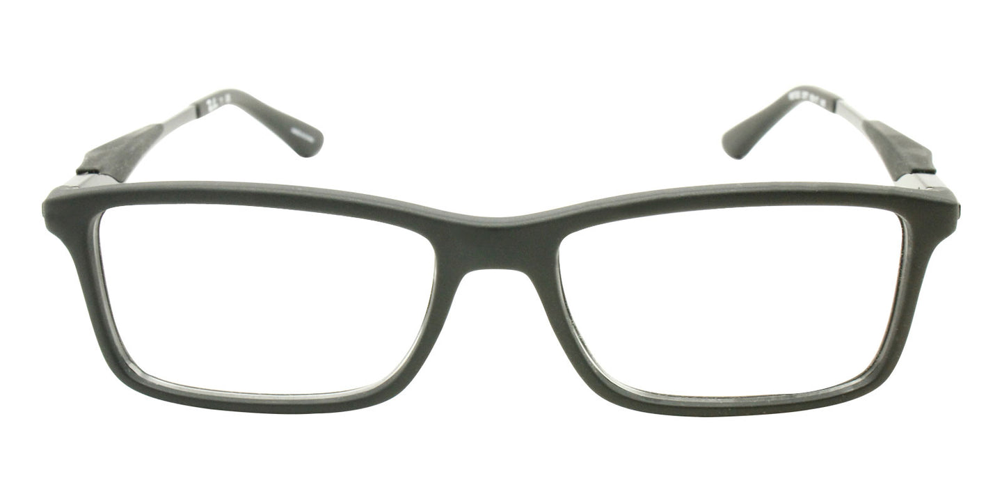 Ray Ban Rx - RX7023 Black Rectangular Men Eyeglasses - 55mm