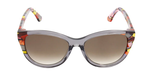 Thierry Lasry - Flattery Gray Oval Women Sunglasses - 55mm