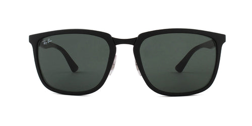 Ray Ban - RB4303 Black Rectangular Unisex Sunglasses - 57mm