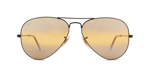 Ray Ban - Aviator Beige/Yellow Mirror Unisex Sunglasses - 58mm