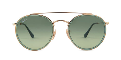 Ray Ban - RB3647N Gold/Green Gradient Round Unisex Sunglasses - 51mm