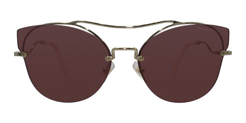 Miu Miu - MU52SS Gold/Pink Oval Women Sunglasses - 62mm