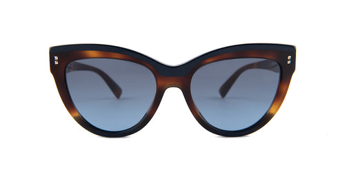 Valentino - VA4034 Havana Cat-Eye Women Sunglasses - 54mm