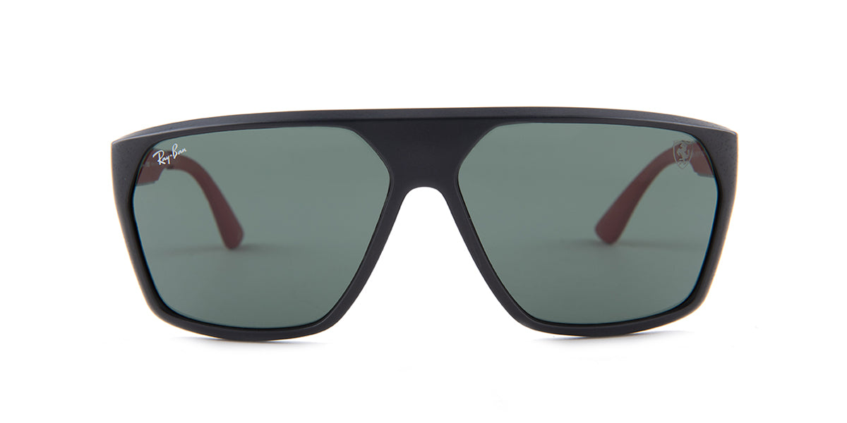 Ray Ban - RB4309M  Black/Green Square Men Sunglasses - 61mm