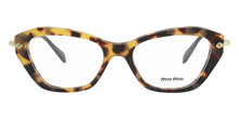 Miu Miu - MU04LV Tortoise/Clear Cat Eye Women Eyeglasses - 52mm