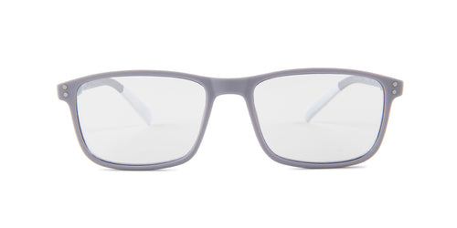 Pantone - N Four +1.50 Gray/Clear Rectangular Unisex Readers - 52mm