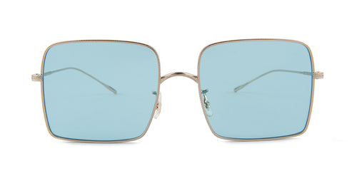 Oliver Peoples Rassine Silver / Blue Lens Sunglasses