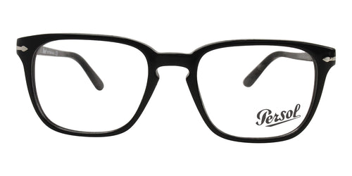 Persol - PO3117V Black Rectangular Unisex Eyeglasses - 53mm