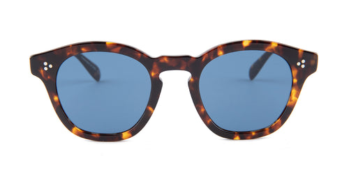 Oliver Peoples Boudreau Tortoise / Blue Lens Sunglasses