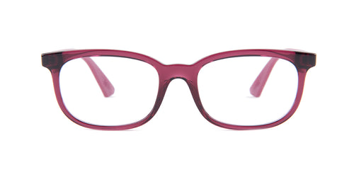 Ray Ban Jr - RY1584 Transparent Fuxia Rectangular Kids Eyeglasses - 48mm