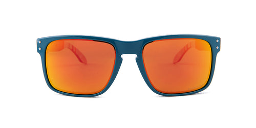 Oakley Holbrook Blue / Red Lens Mirror Sunglasses