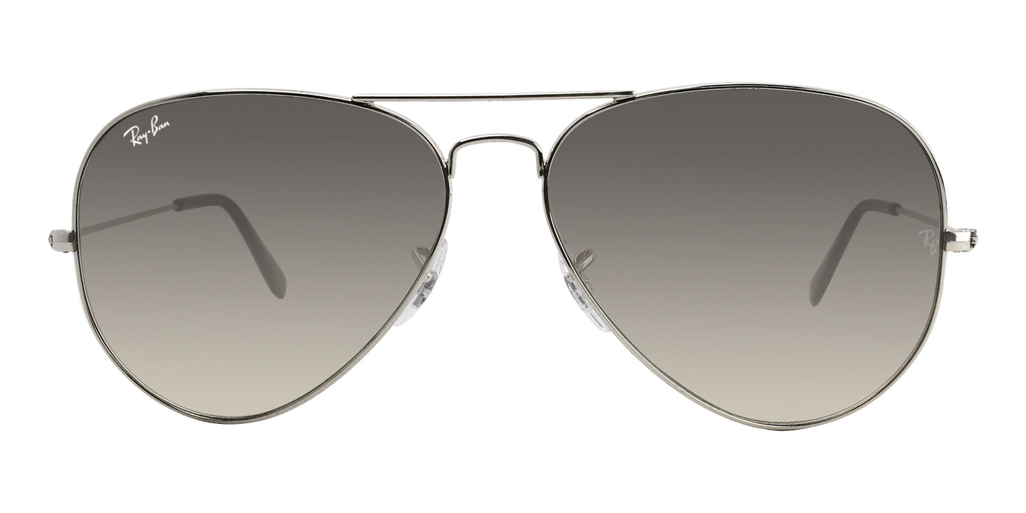 Ray Ban - Aviator Gradient Silver/Gray Gradient Unisex Sunglasses - 62mm