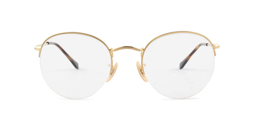 Ray Ban Rx - RX3947 Gold Round Unisex Eyeglasses - 51mm
