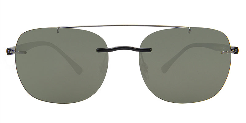 Ray Ban - RB4280 Black/Green Polarized Oval Unisex Sunglasses - 55mm