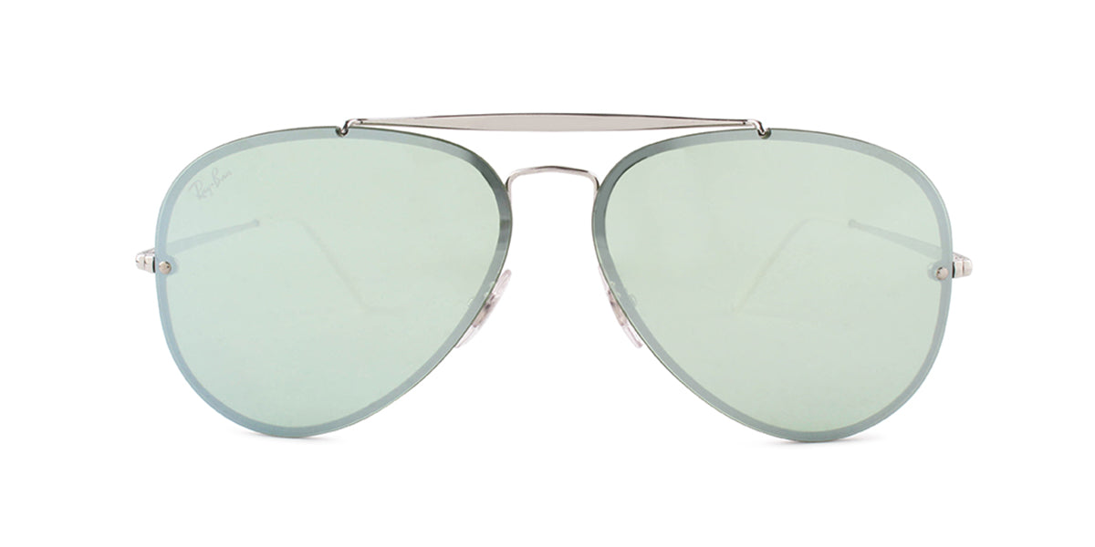 Ray Ban - RB3584N Silver/Green Mirror Aviator Women Sunglasses - 61mm