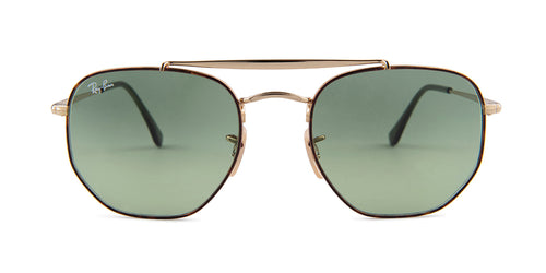 Ray Ban - The Marshal Havana/Green Square Women Sunglasses - 54mm