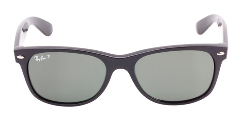 Ray Ban New Wayfarer Black / Green Lens Polarized Sunglasses