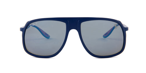Ray Ban - RB4308M  Blue/Blue Polarized Square Men Sunglasses - 58mm