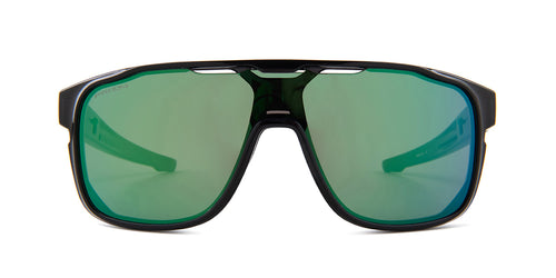 Oakley OO9387-12 Black / Green Lens Mirror Sunglasses