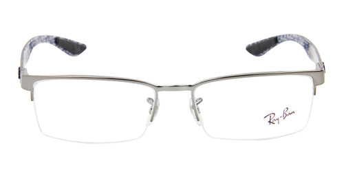 Ray Ban RX8412 Silver / Clear Lens Eyeglasses