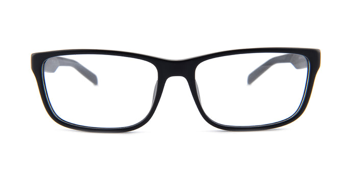Tagheuer - TH0553 Black Rectangular Men Eyeglasses - 57mm
